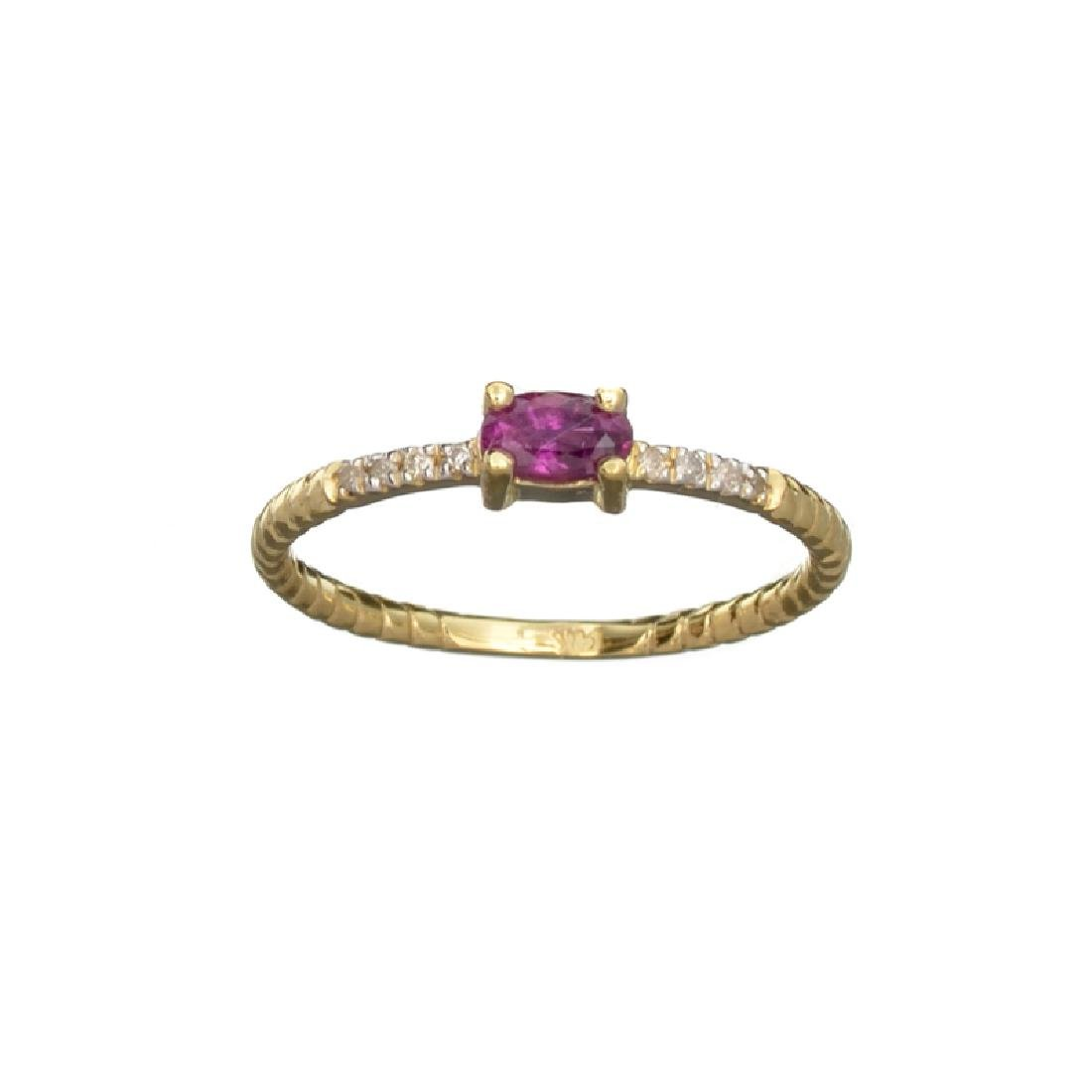 APP: 0.6k Fine Jewelry 14 KT Gold, 0.29CT Red Ruby And