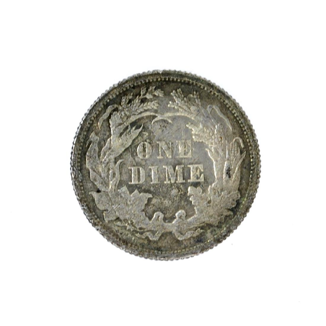 1878 Liberty Seated Dime Coin - 2