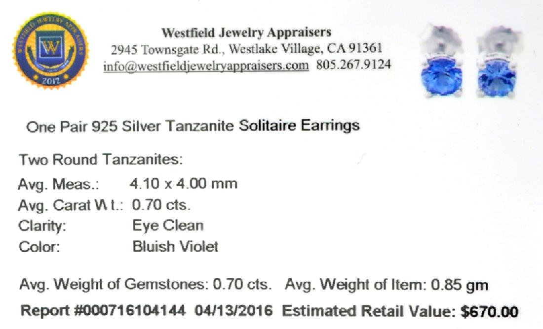 APP: 0.7k Fine Jewelry 0.70CT Round Cut Tanzanite And - 2