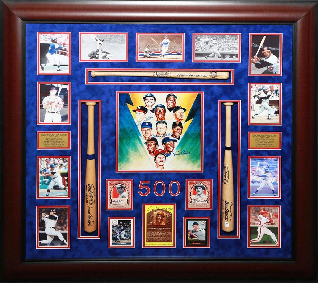 500 Homerun Collage with Bats