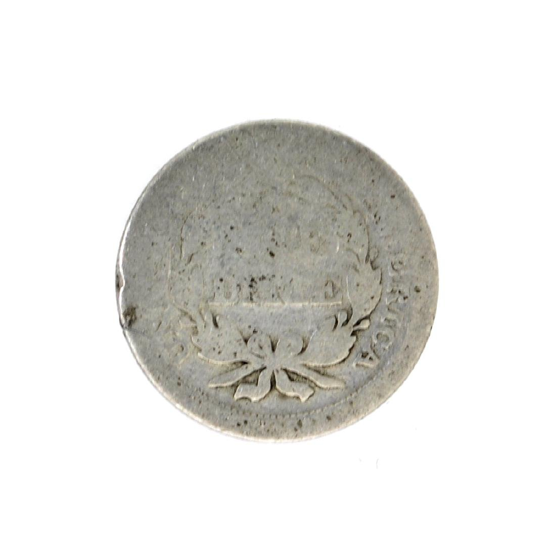 1853 Liberty Seated Arrows At Date Dime Coin - 2