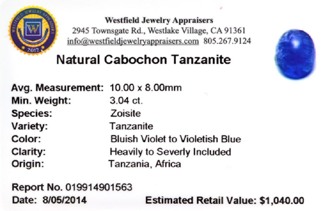APP: 1k 3.04CT Natural Cabochon Tanzanite Gemstone - 2