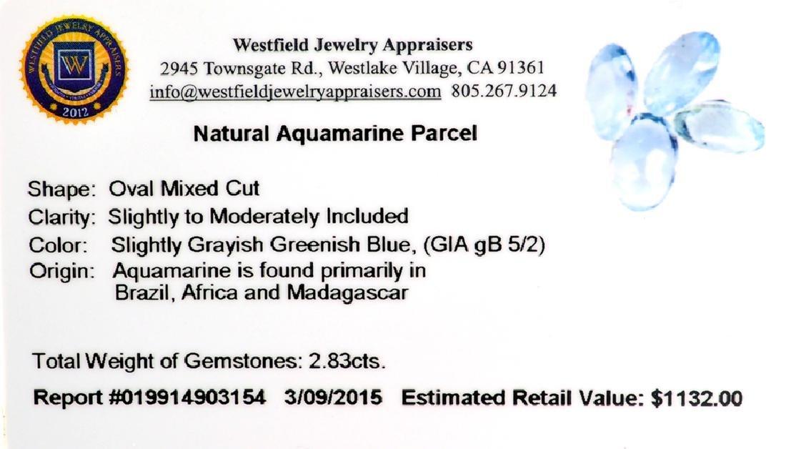 APP: 1.1k 2.83CT Oval Mixed Cut Natural Aquamarine - 2