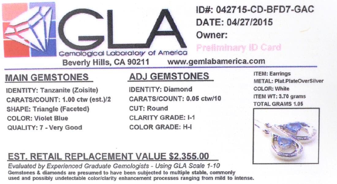 APP: 2.4k Fine Jewelry 1.00CT Tanzanite And Diamond - 2