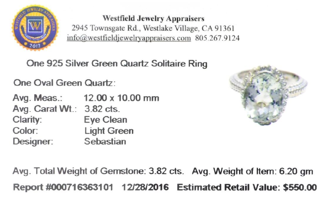 APP: 0.6k Fine Jewelry Designer Sebastian, 3.82CT Oval - 2
