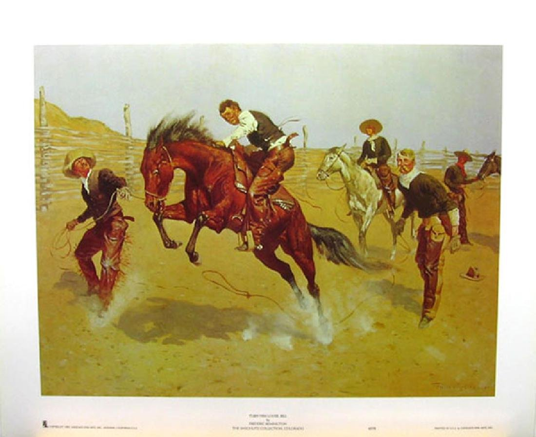 FREDERIC REMINGTON (After) Turn Him Loose Bill Print,