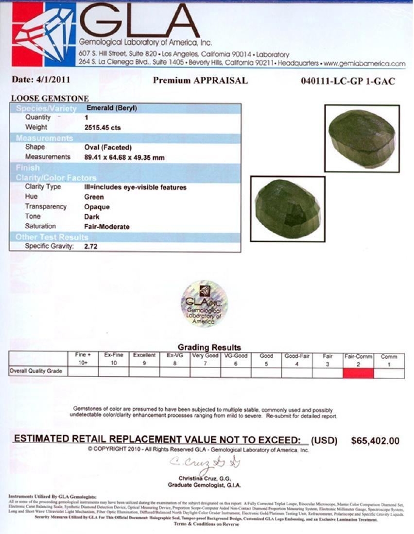 APP: 65.4k 2,515.45CT Oval Cut Emerald Gemstone - 2