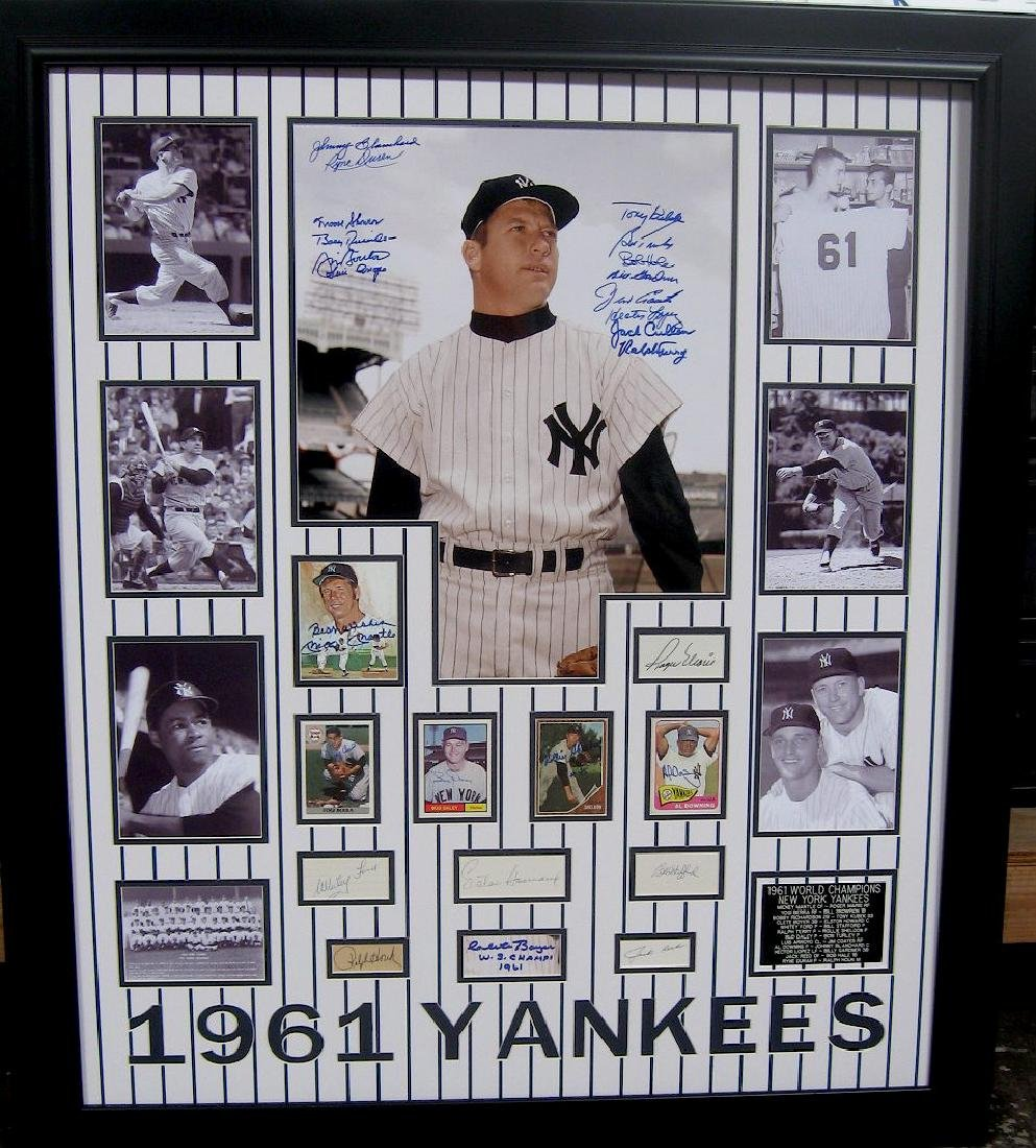 Authentic Engraved 1961 Yankees Collage