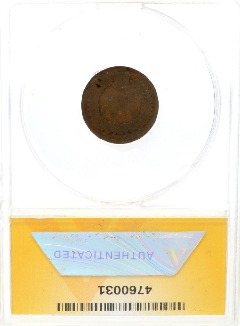 1877 1c Indian Head ANACS Fair 2 Details Coin - 2