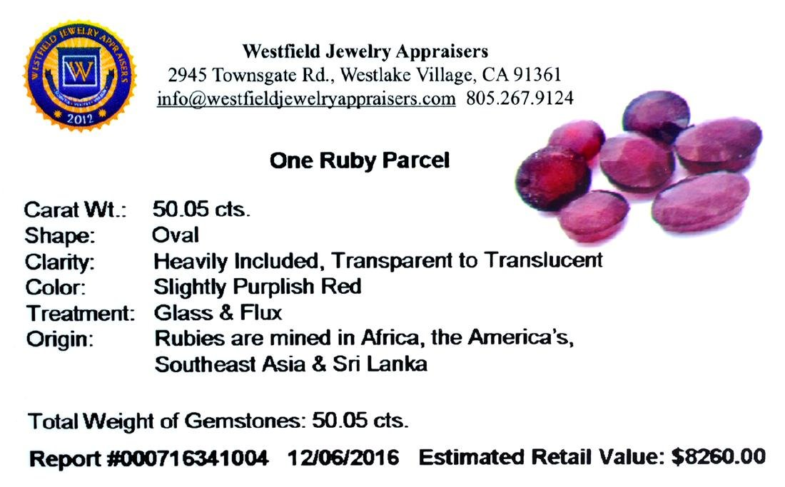 APP: 8.3k 50.05CT Oval Cut Ruby Parcel - 2