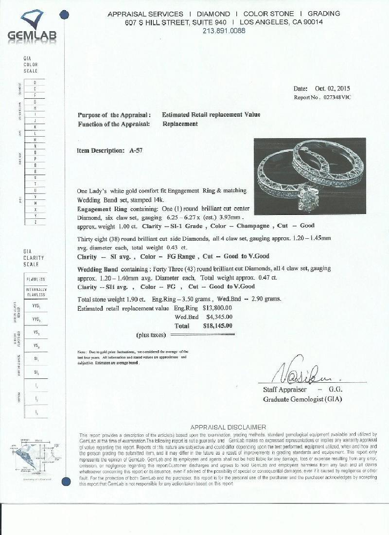 APP: 18.1k *Fine Jewelry 14 KT White Gold, 1.90CT Round - 2