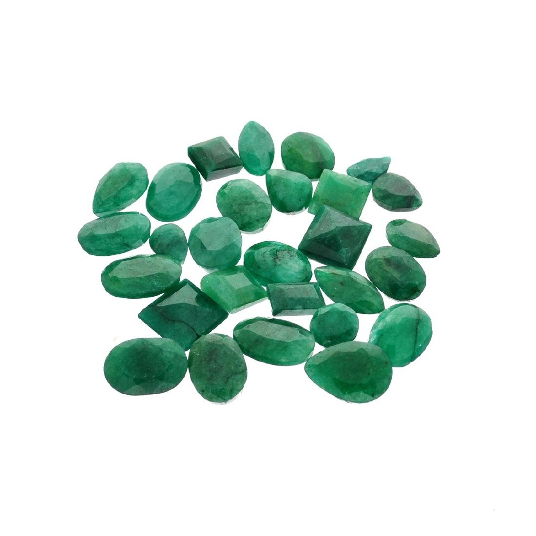 APP: 7.5k 100.16CT Various Shapes Green Emeral Parcel-