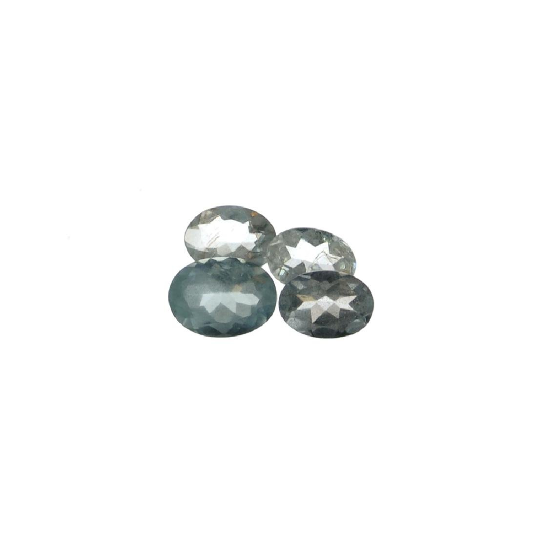 APP: 1.2k 2.96CT Oval Mixed Cut Natural Aquamarine