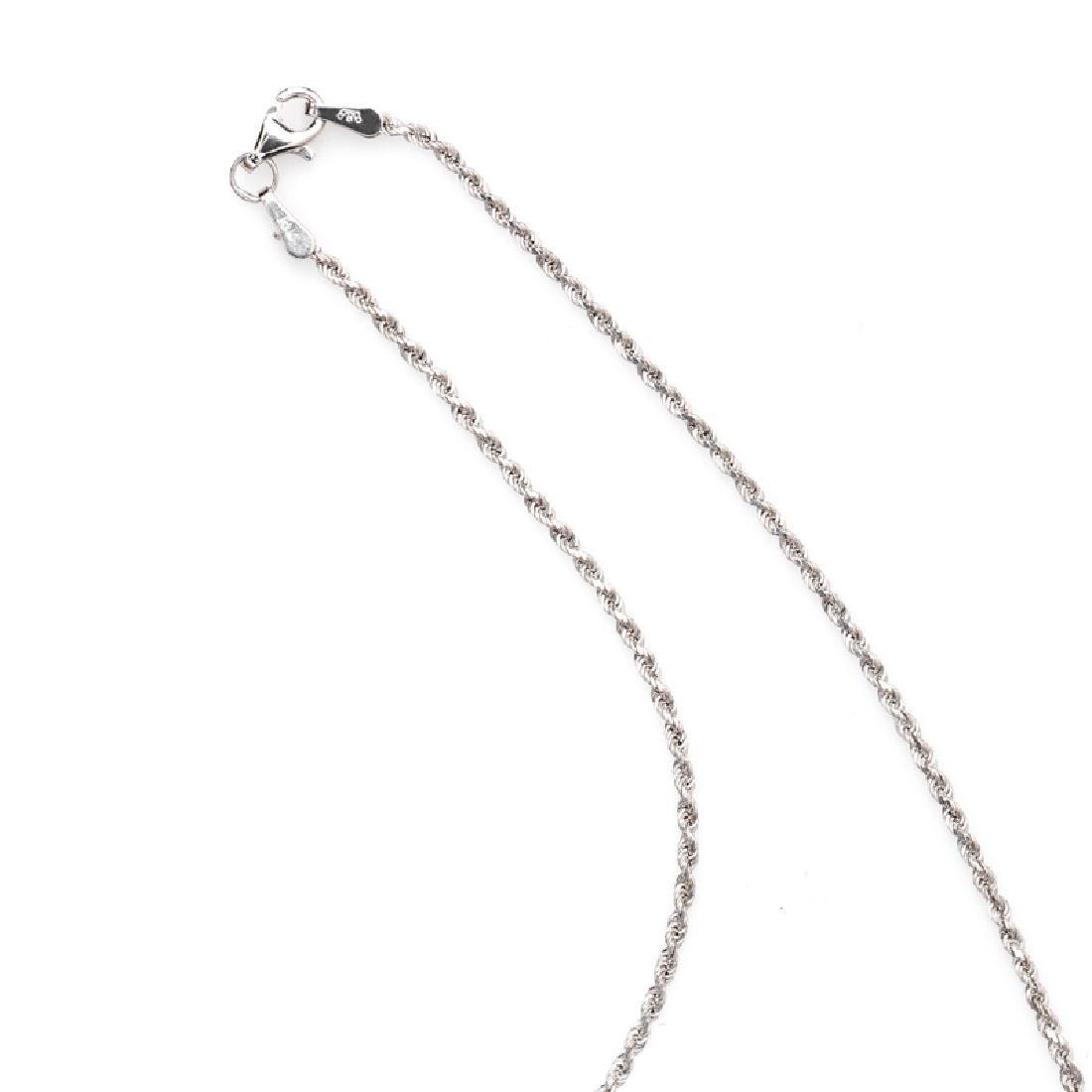 *Fine Jewelry 14 KT White Gold, Diamond Cut, 5.3GM, - 2
