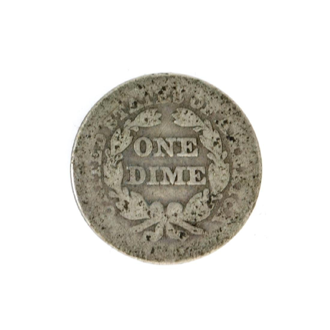 1845 Liberty Seated Dime Coin - 2