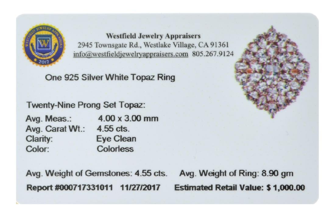 APP: 1k 4.55CT Twenty-Nine Prong Set Topaz 925 Sterling - 2