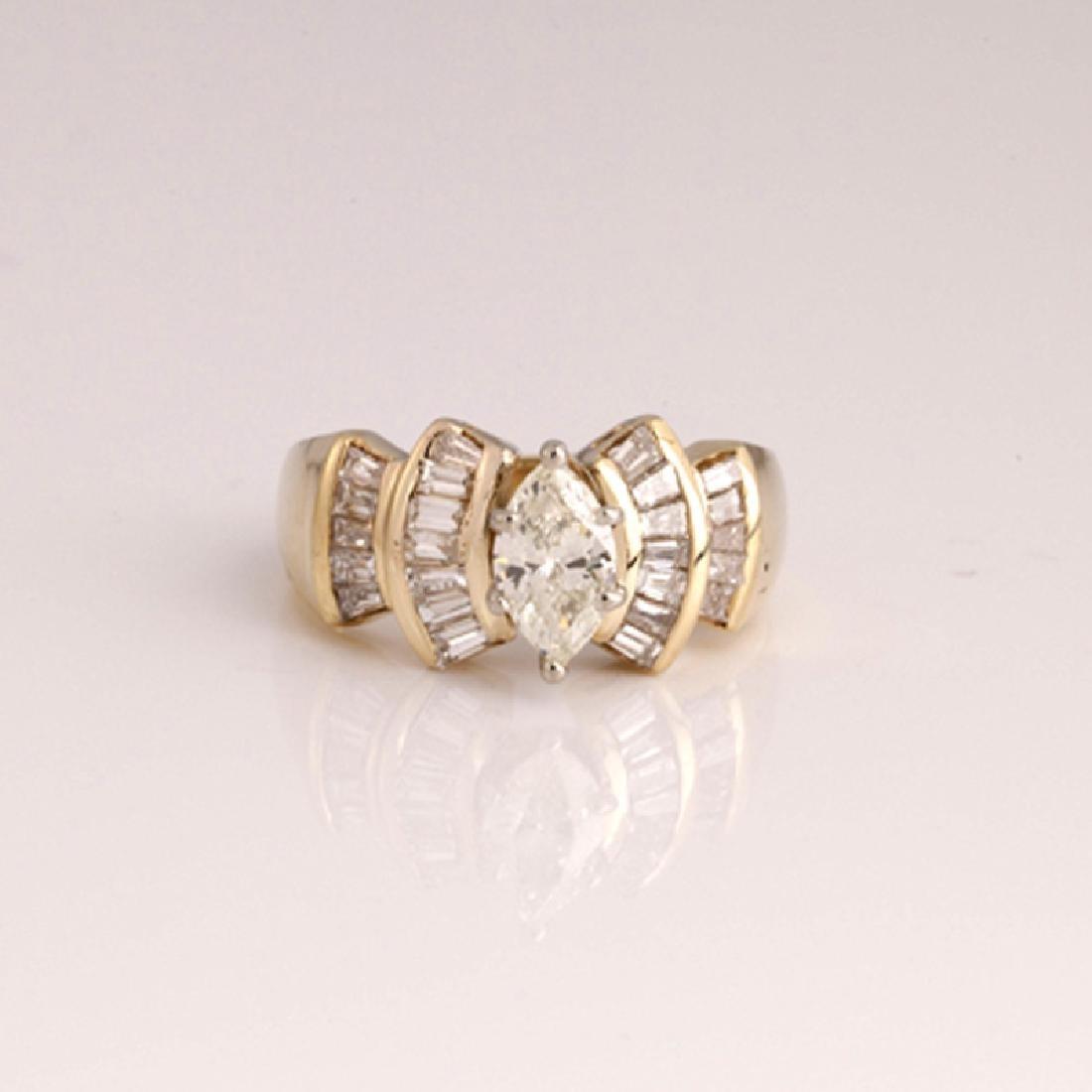 *Fine Jewelry 14 kt. Gold, New Custom Made 1.35CT
