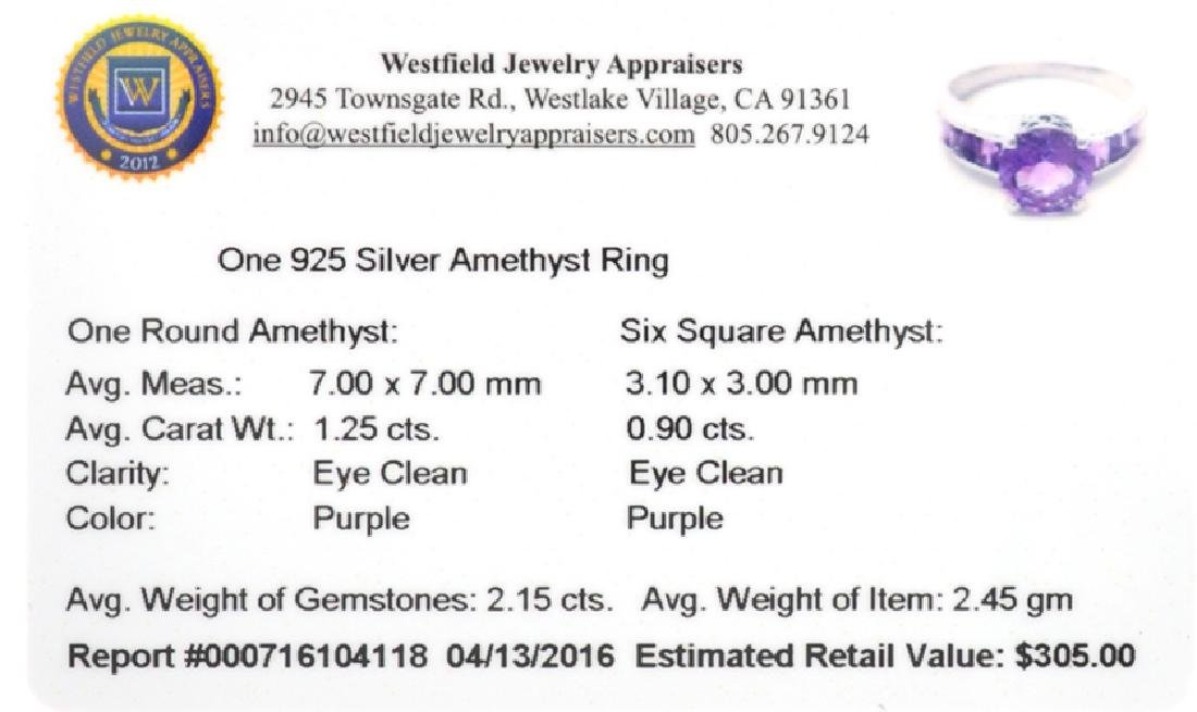 APP: 0.3k Fine Jewelry 2.15CT Purple Amethyst And - 2