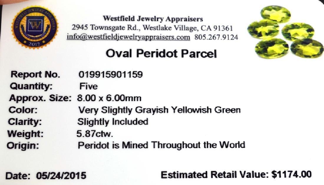 APP: 1.2k 5.87CT Oval Cut Green Peridot Parcel - 2