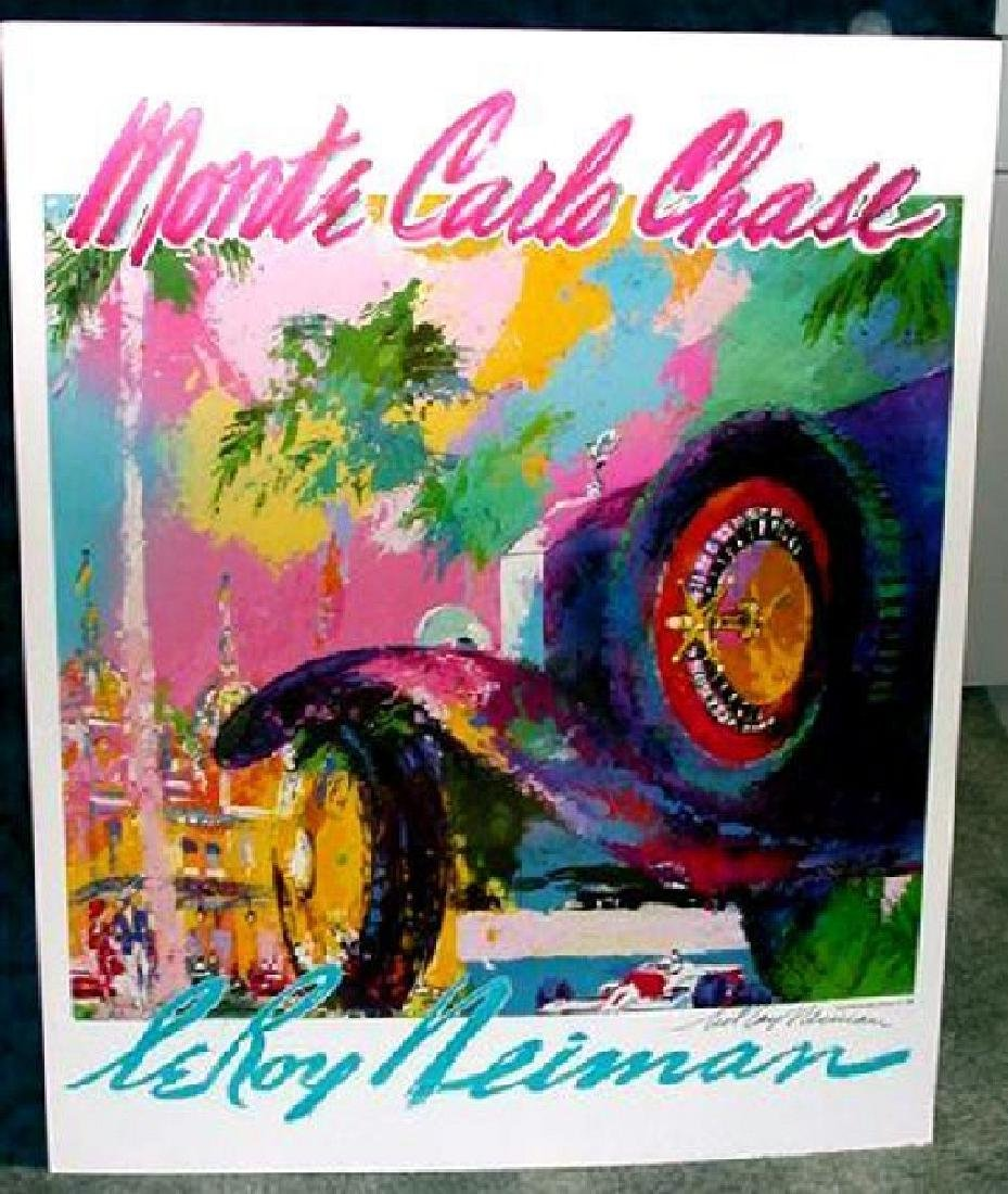 Hand Signed LeRoy Neiman: Monte Carlo Chase