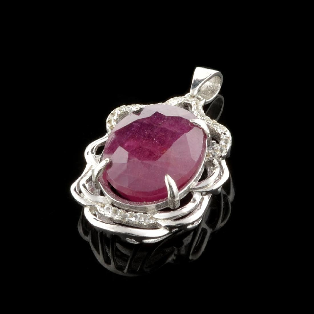 APP: 1.9k Fine Jewelry 9.10CT Ruby And Colorless Topaz