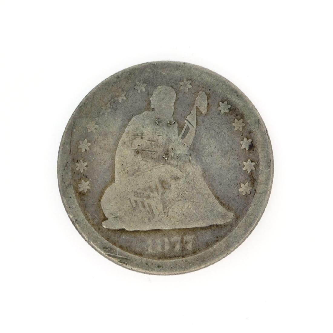 Rare 1877-S Liberty Seated Quarter Dollar Coin