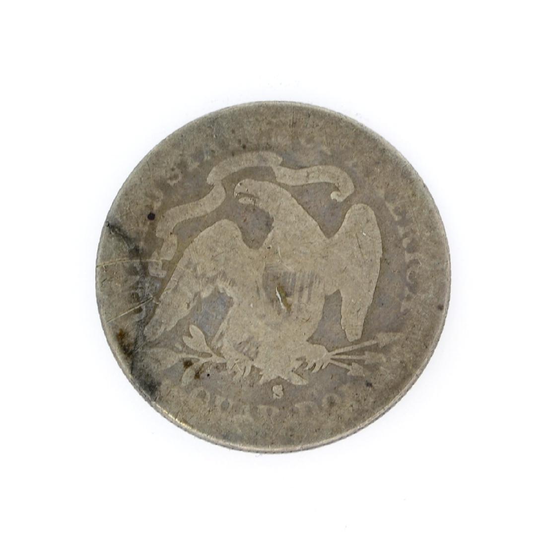 Rare 1877-S Liberty Seated Quarter Dollar Coin - 2