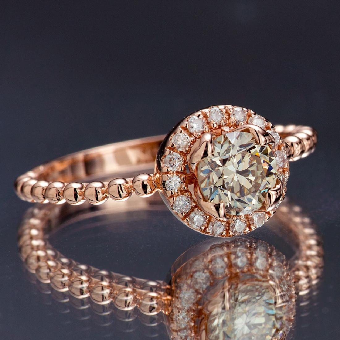 APP: 5k *Fine Jewelry 14 KT Rose Gold, 0.91CT Round