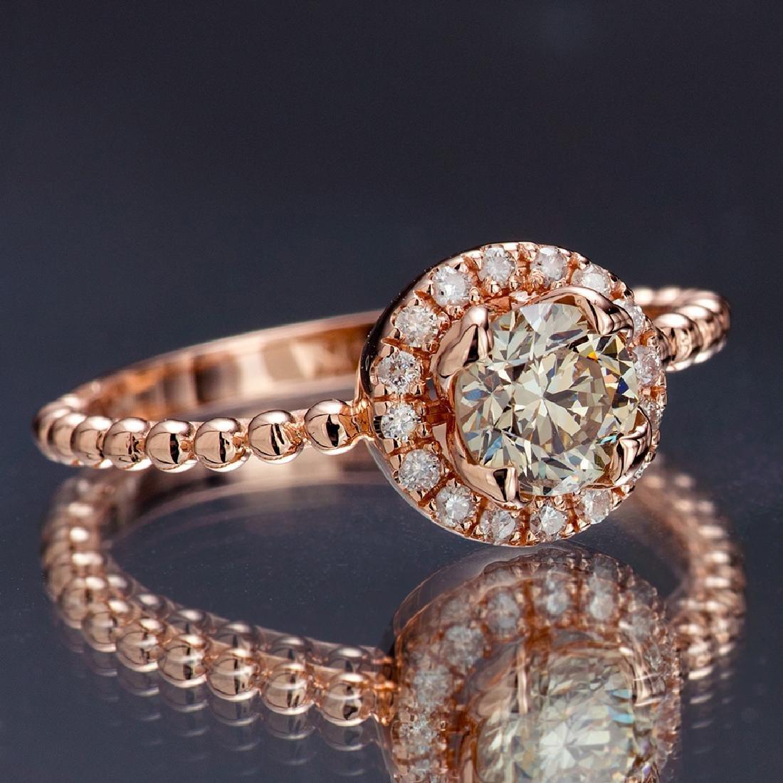 APP: 5k *Fine Jewelry 14 KT Rose Gold, 0.91CT Round