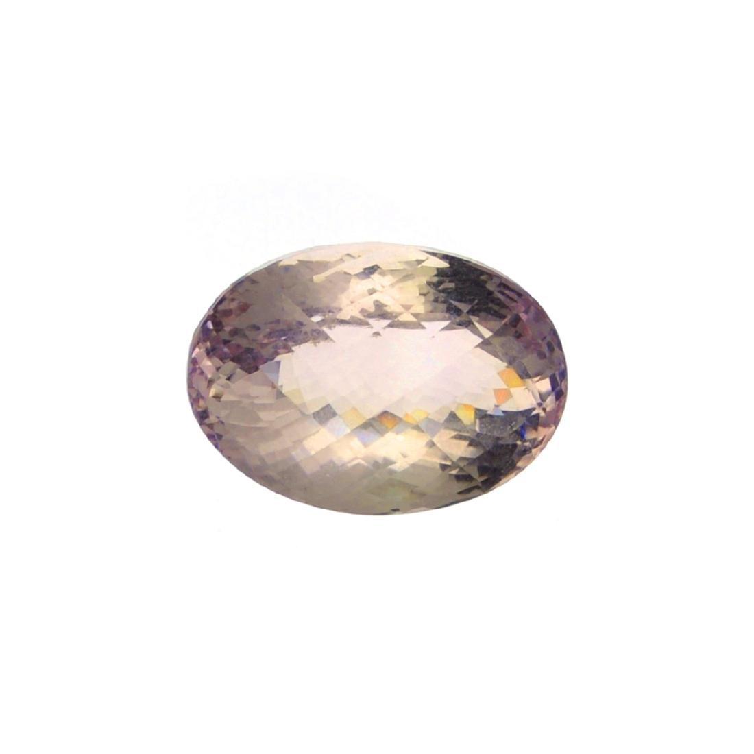 APP: 3.6k 40.50CT Oval Cut Light Purple Amethyst Quartz