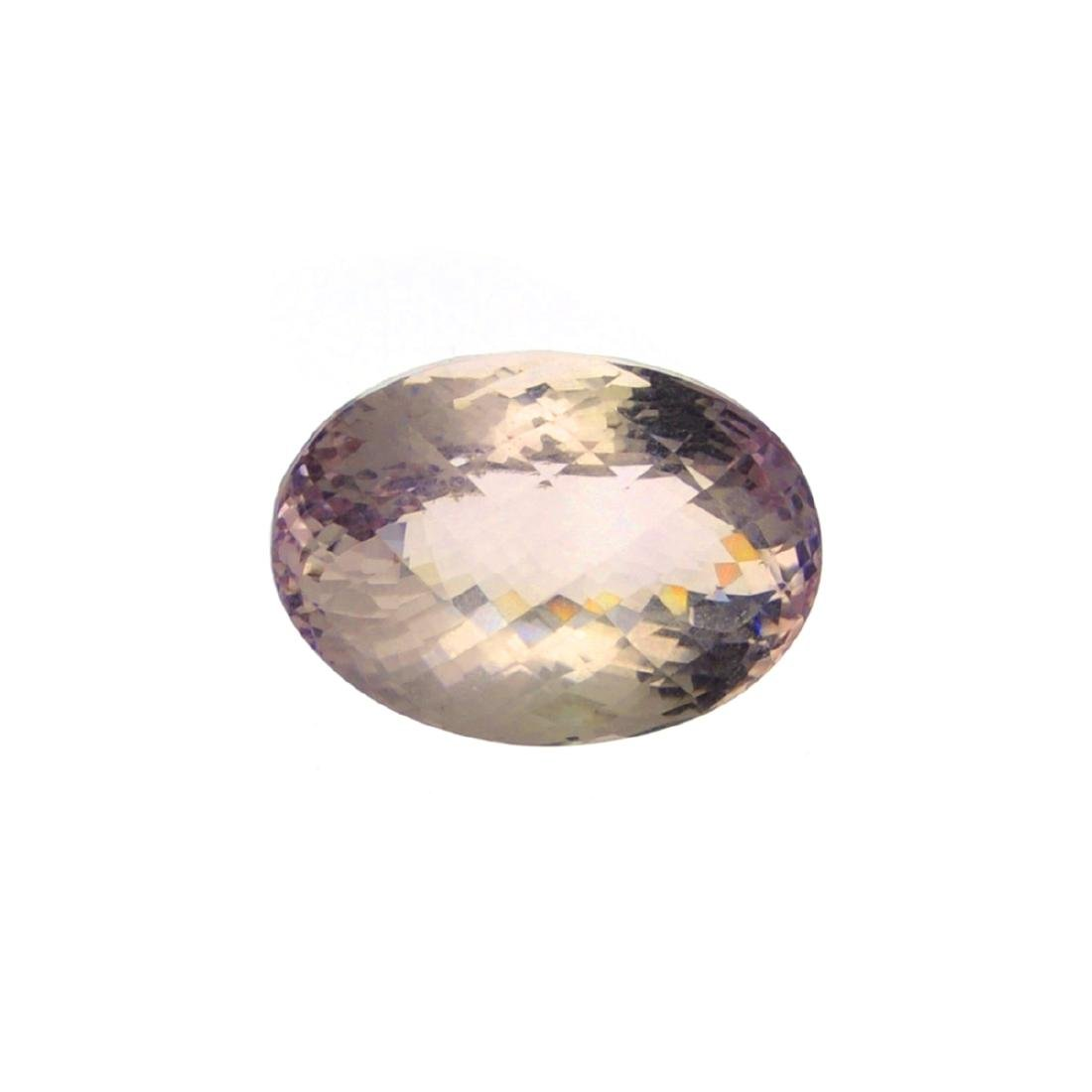 APP: 3.6k 40.50CT Oval Cut Light Purple Amethyst Quartz