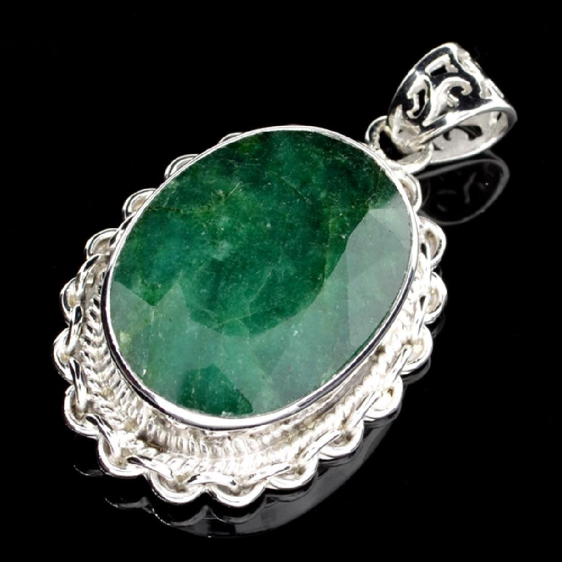 APP: 1.8k 45.46CT Oval Cut Green Beryl and Sterling