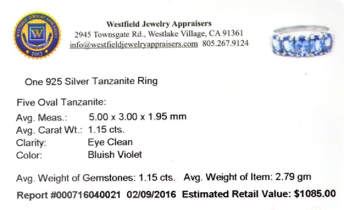 APP: 1.1k Fine Jewelry 1.15CT Oval Cut Tanzanite And - 2