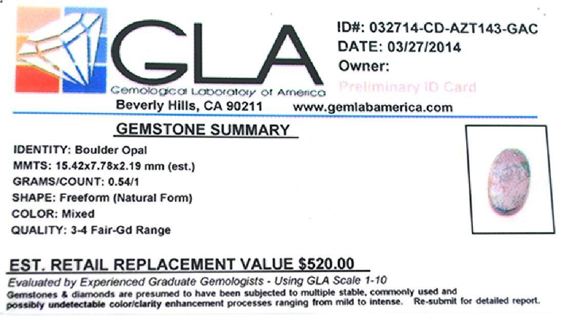 APP: 0.5k 0.54Gm Natural Freeform Boulder Opal Gemstone - 2
