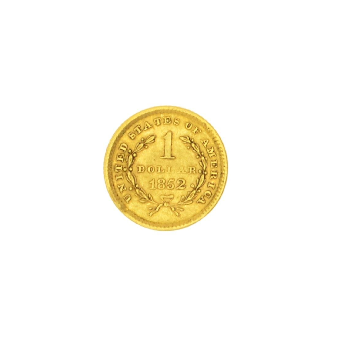Very Rare 1852 $1 U.S. Liberty Head Gold Coin Great - 2