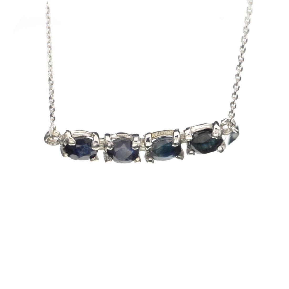 Fine Jewelry Designer Sebastian 1.85CT Oval Cut Blue