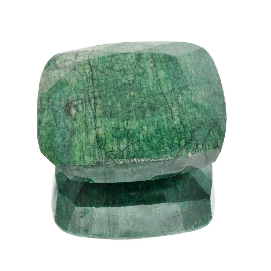 APP: 4.3k 1,731.00CT Rectangular Cushion Cut Green
