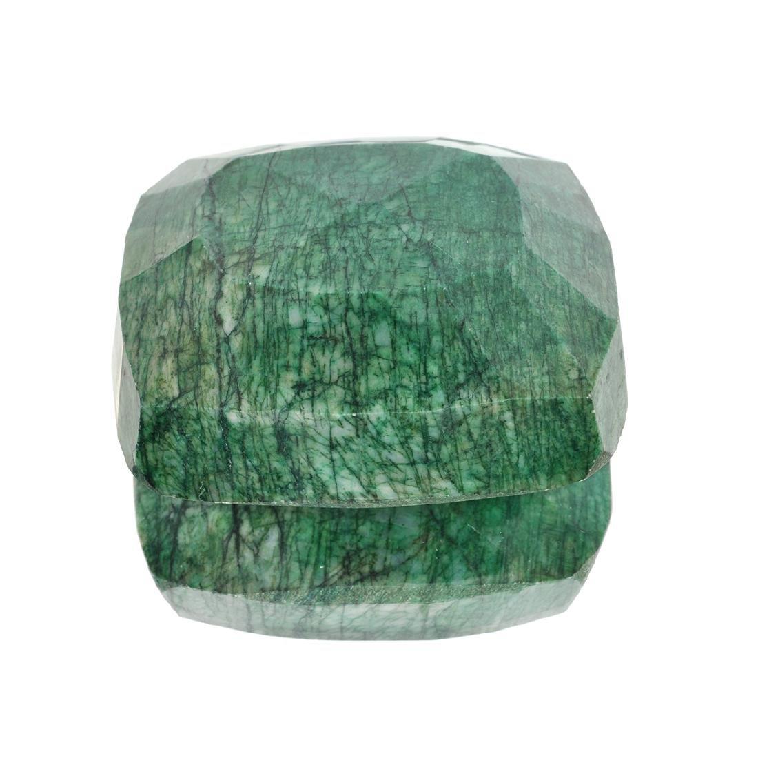 APP: 4.3k 1,731.00CT Rectangular Cushion Cut Green - 2