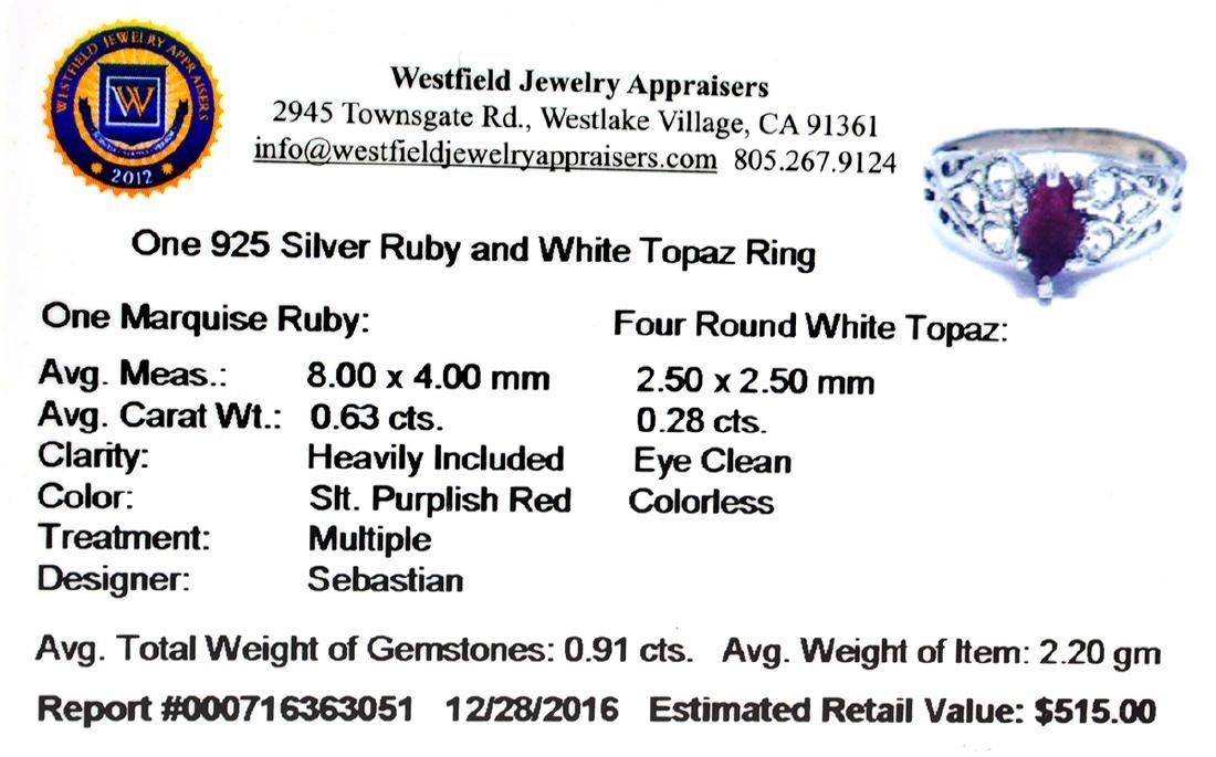 APP: 0.5k Fine Jewelry Designer Sebastian, 0.91CT Ruby - 2