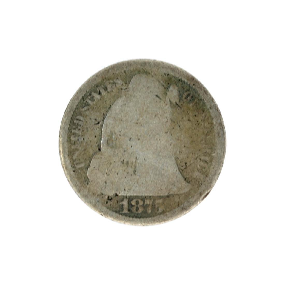 1875-S Liberty Seated Dime Coin