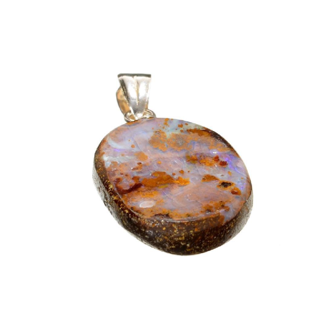 10.20CT Boulder Opal Sterling Silver Pendant