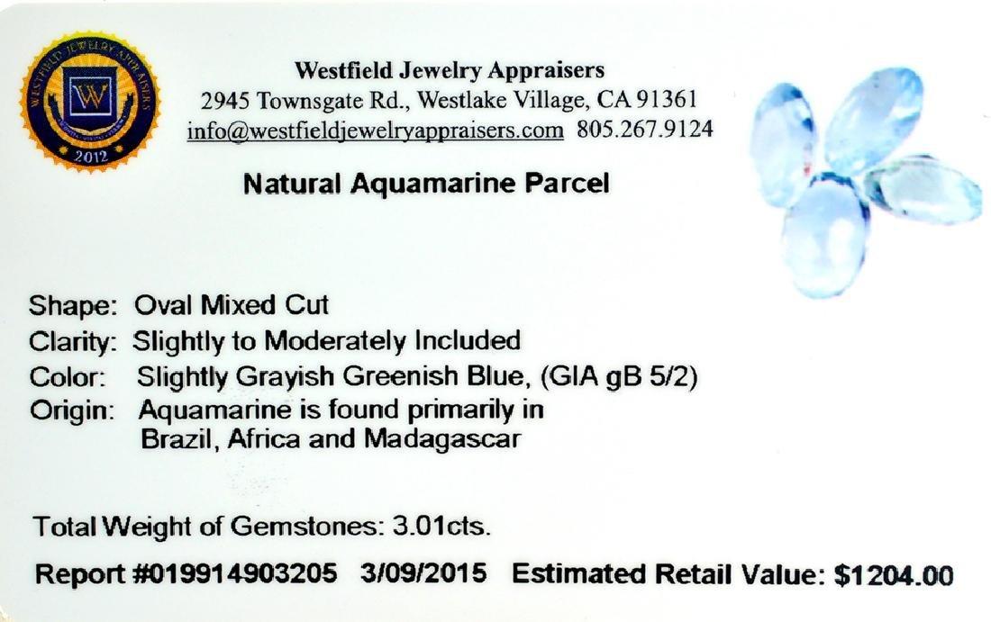 APP: 1.2k 3.01CT Oval Mixed Cut Natural Aquamarine - 2