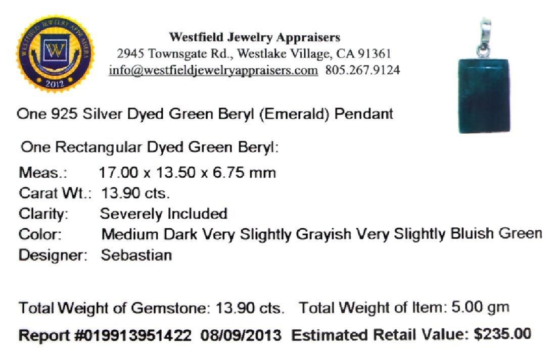 Designer Sebastian 13.90CT Rectangular Cut Green Beryl - 2