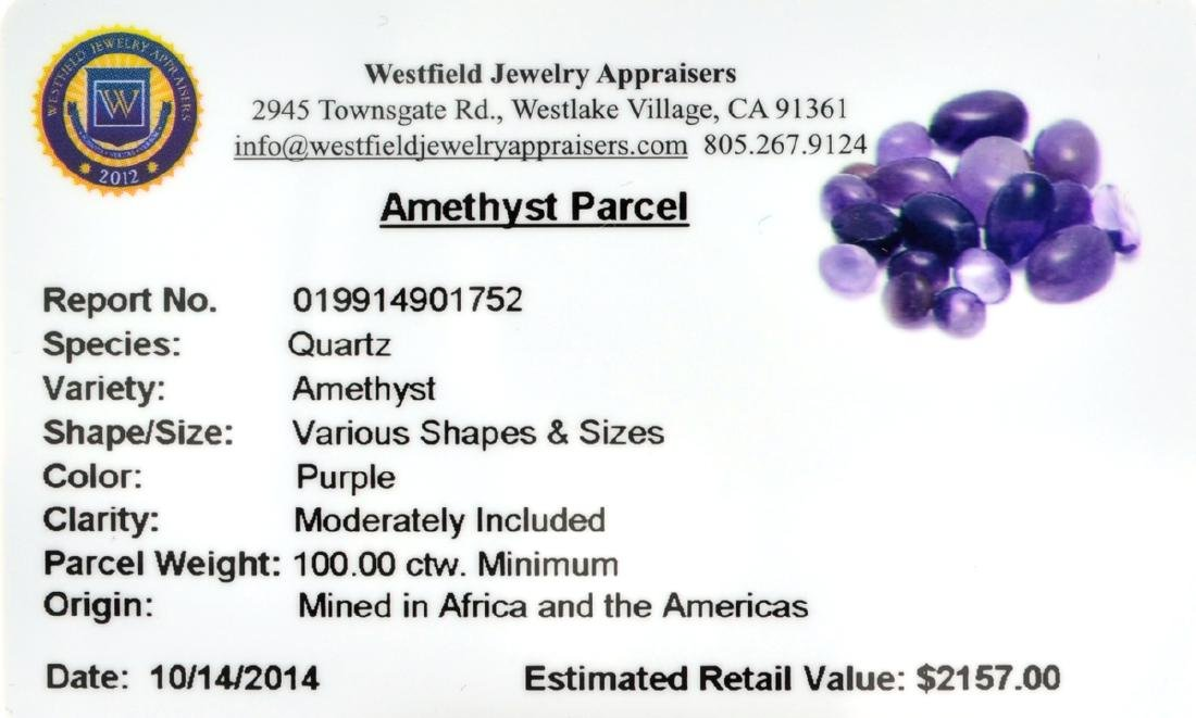 APP: 2.2k 100.00CT Various Shapes & Sizes Amethyst - 2