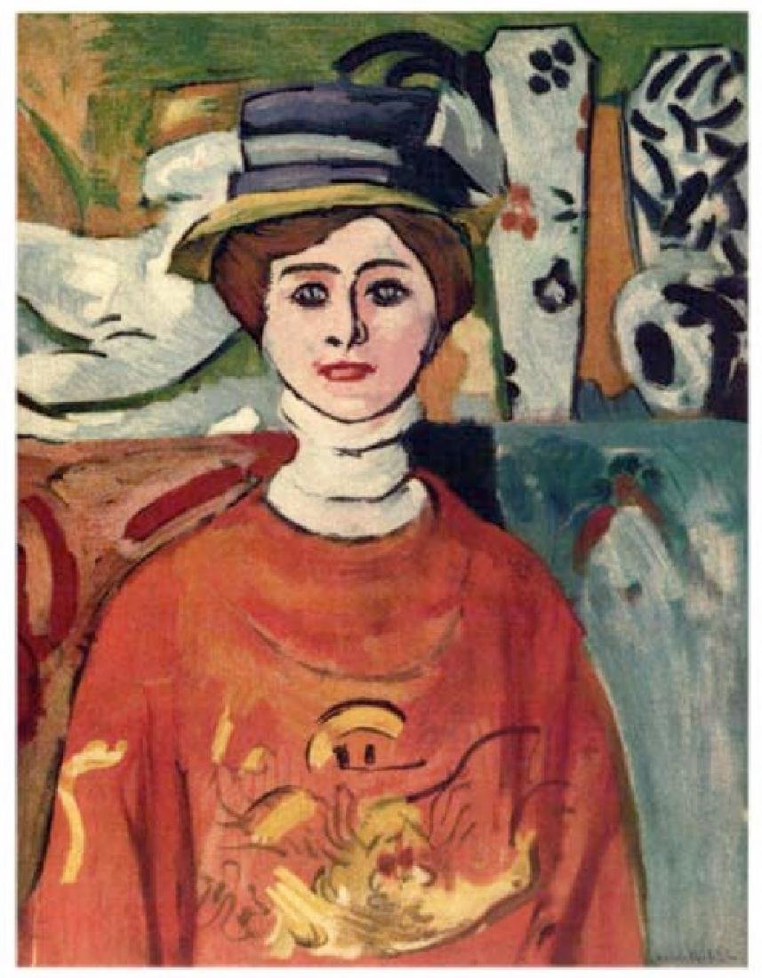 Henri Matisse ''''099 Mlle X… Girl With Green Eye''''