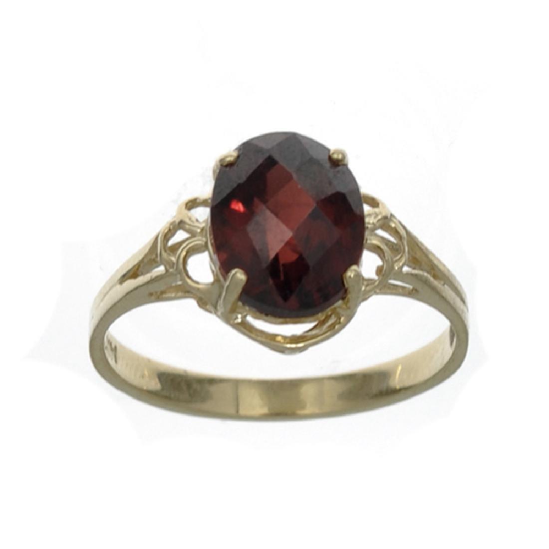 APP: 0.6k Fine Jewelry 14 KT Gold, 3.21CT Oval Cut Red