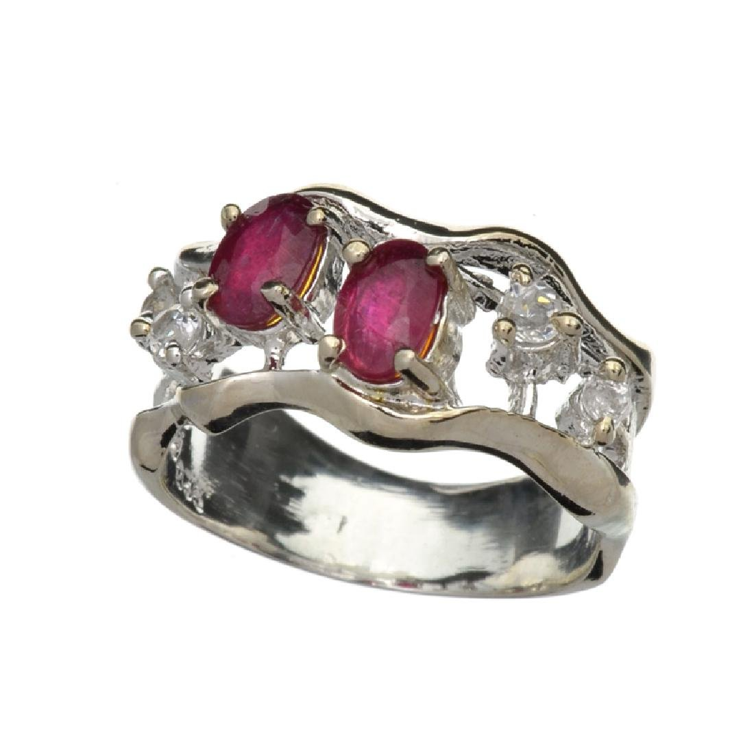 APP: 1.7k Fine Jewelry 1.00CT Ruby And Colorless Topaz
