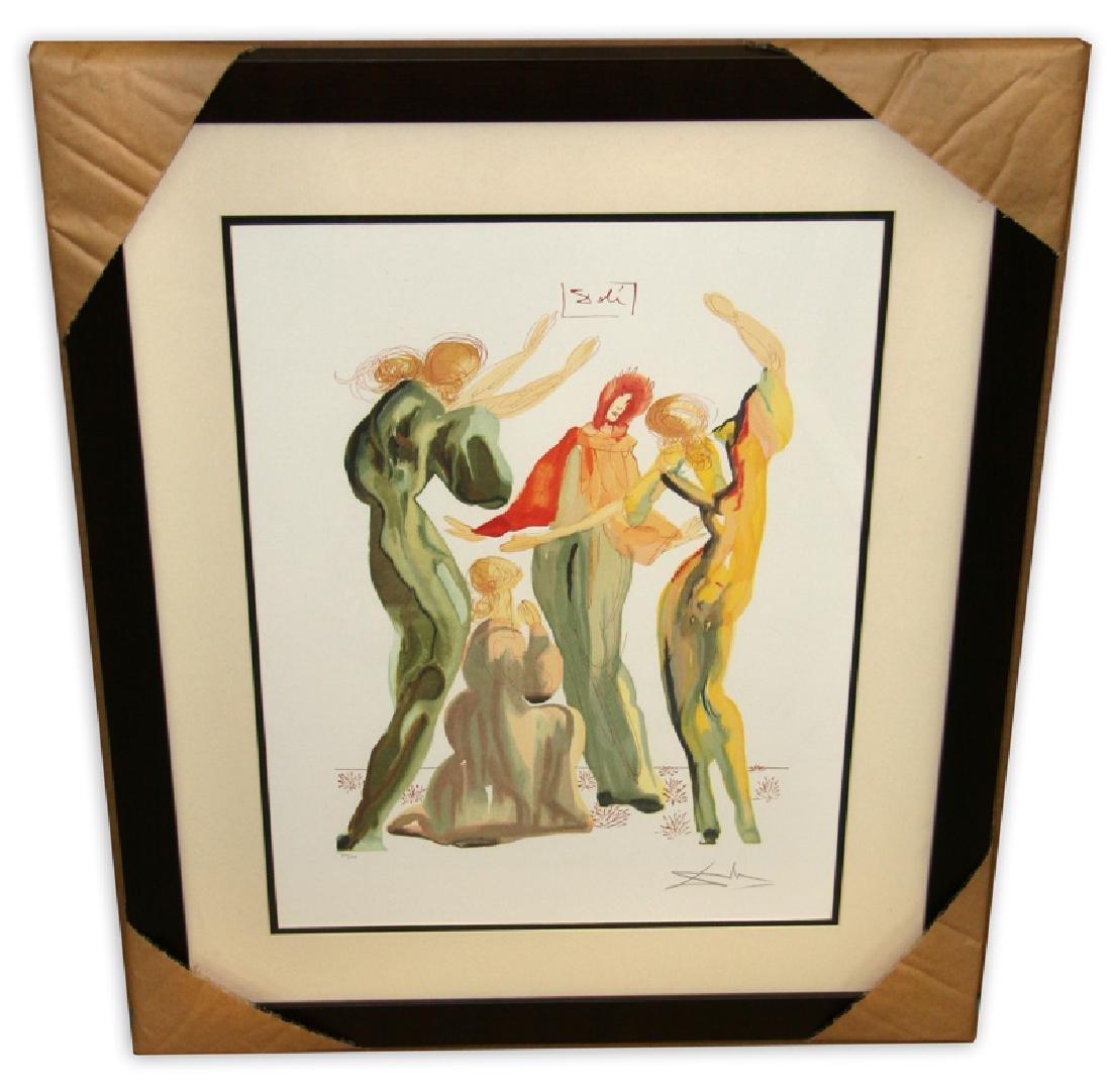 Salvador Dali (After) 'La Danse' Museum Framed & Matted