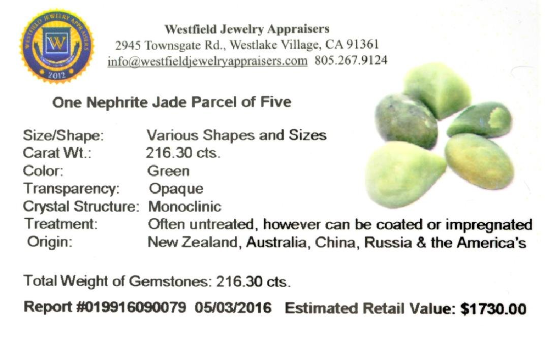 APP: 1.7k 216.30CT Various Shapes And sizes Nephrite - 2