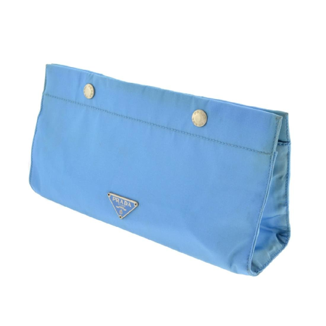 Prada Ligth Blue Cosmetic Pouch (Pre Owned) As Is